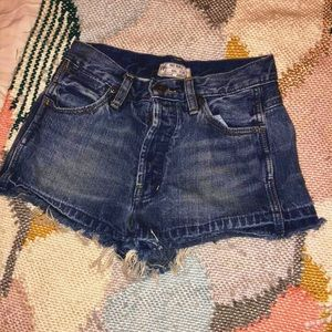 Free People Costello denim shorts
